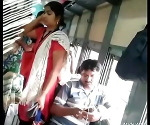 Tamil lady groping in..