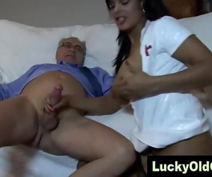 old man nails Indian lady in..